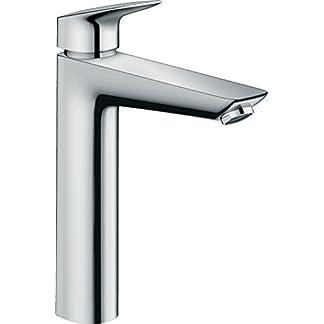 31KZXzoLvML. SS324  - Hansgrohe-71012000-Grifo mezclador de lavabo de cuarto de baño para armario de alta Mycube XL