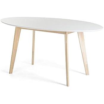 JUSTyou Monet Esszimmertisch Küchentisch Esstisch Weiß Eiche ...