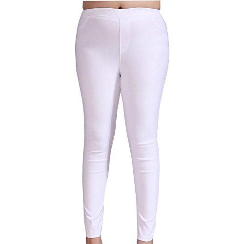 MCC Skinny jeans grande formato pantaloni di colore puro della donna adatto per vari scarpe stile pantaloni Mix , black , 3xl
