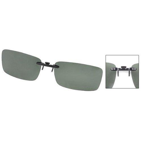 Little Sporter Unisex Polarisierte Überbrille Sonnenbrille Clip Brillen für Brillenträger Überzieh Sonnenbrille Schützen Sie Ihre Augen Dunkelgrün