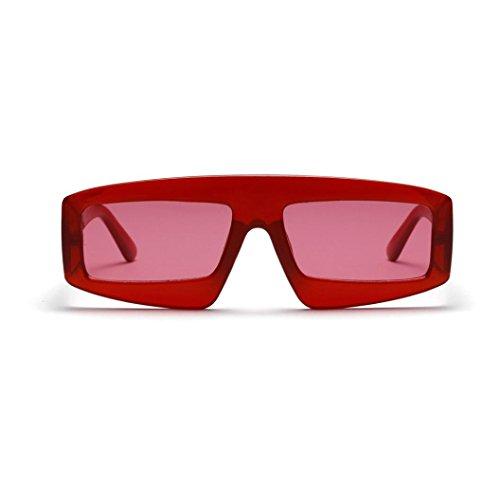 Occhiali da sole,witsaye moda polarizzati occhiali da sole da donna gatto in metallo specchio (rosso)