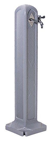 Wasserhahnsäule Granit Grau Zapfsäule 90cm Zapfhahn Zapfstelle