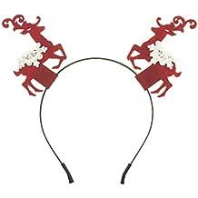 Diadema con diseño de renos rojos de Navidad, de la marca Festive Fun