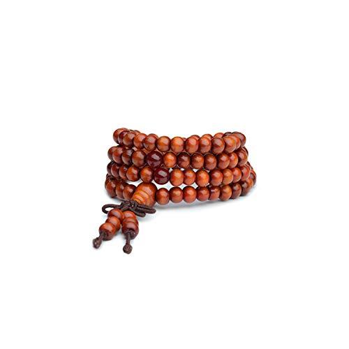 Awertaweyt Edelstein Perlen Armband Men Women Unisex 108 Beads Praying Bracelet Wooden Beaded Bracelets Wristband Rosary Bangle Wristlet 2