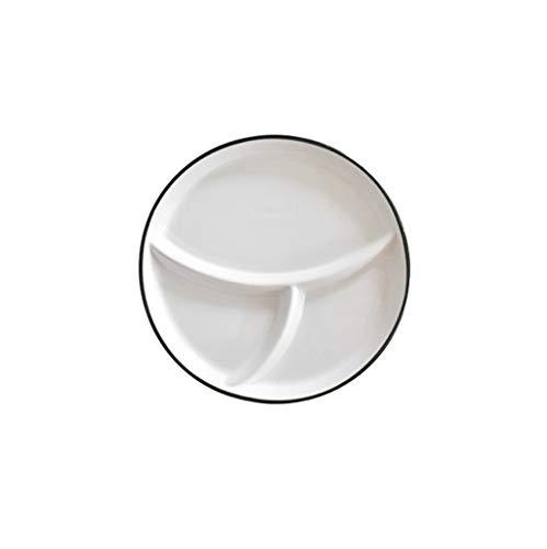 ZH-Suppenteller Keramikteller Das Qualitätsfrühstück In DREI Fächer Unterteilt Geschirr Für Haushalt Und Gastronomie (8 Zoll)