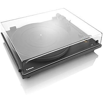 Lenco slim line Tourne-disque (Port USB, audio technica Micros, Courroie d'entraînement, boîtier en bois)