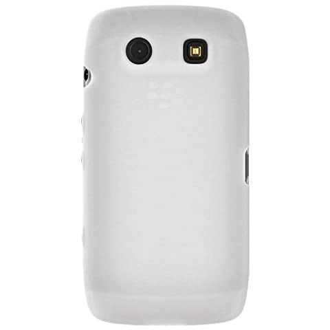 Amzer Silicone Skin Jelly Case Coque pour Blackberry Torch 9850/9860 – Blanc Transparent