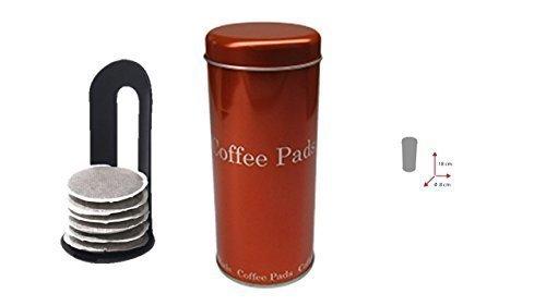 Kaffeepad-Dose orange mit Padlifter