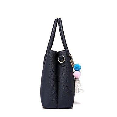 Damenmode Faux/PU Leder Schulter Messenger Crossbody-tasche/Handtasche Tote Gray