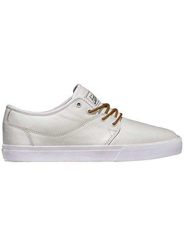 Globe Mahalo pour homme Skate Chaussures en cuir blanc–Mark Appleyard formateurs Blanc - blanc