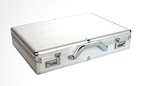Preisvergleich Produktbild Kscase Aluminium Laptop Aktenkoffer Notebookkoffer 445x315x70mm Silber