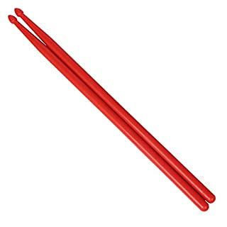 ETbotu 1 Paar Profi Drumsticks Drumsticks Nylon Drum Stick für Jazz Drum rot