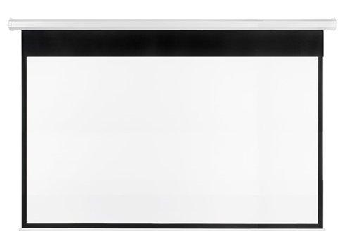 Franken LWE23017 Rolloleinwand elektrisch X-tra beschichtetes Gewebetuch, 300 x 169 cm