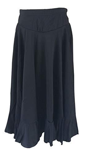 La Señorita Flamenco Rock Kinder Spanische Kleider schwarz 2 Volants (schwarz, Größe 10, 128-134, Länge 70 cm) (Spanischer Tanz Kostüm Kinder)