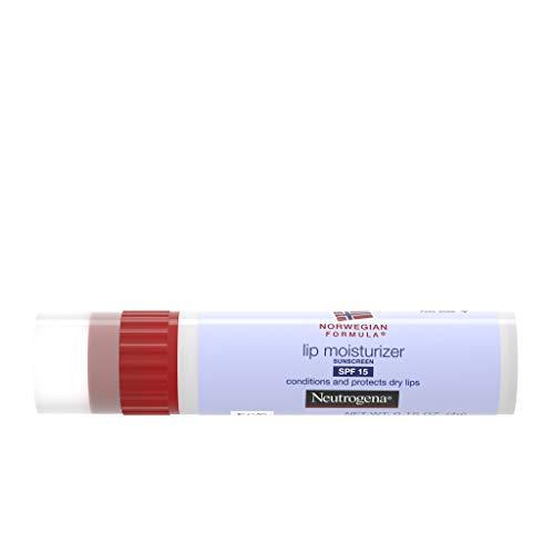 Neutrogena Stick de baume à lèvres hydratant Norwegian Formula - Adoucit, lisse et protège les lèvres sèches et gercées - SPF 15 - 4,4 ml