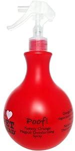 Pet Head Chien Poof Vaporisateur Désodorisant Magique Parfum Orange Délicieuse 450 ml