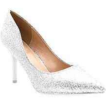 9f577a44c373 Fashion Shoes-Escarpins Femmes Talon Haut Sexy-Chaussures Anguille Talon Fin  9cm-Vernis