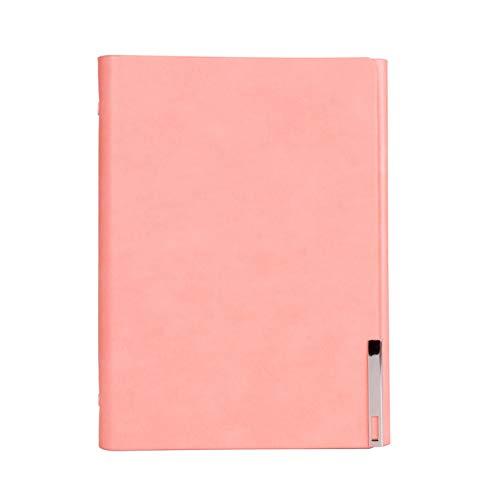 VQEWZ Pu Leder Loose Leaf NotebookJournalRingbuch Kalender Agenda Clip Planer Benutzerdefinierte Logo Metallschnalle Magnet Tagebuch Pink