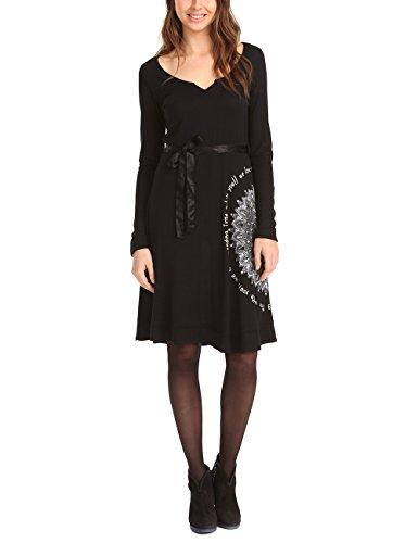 Desigual Martita Vestido, Negro 2000, 44 para Mujer