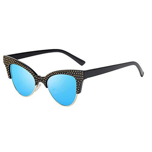 Yolmook Damen Empire Sonnenbrille Gr. Einheitsgröße, blau