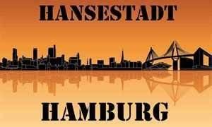 UB Fahne / Flagge Hansestadt Hamburg Skyline 90 cm x 150 cm Neuware!!!