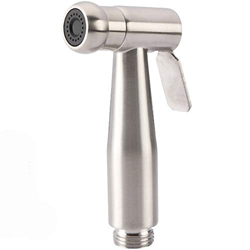 ZRK Shower-304 Edelstahl Bidet Cleaner-Bathroom Toilette Hand-Held Pressurized Big Nozzle Sprayer Small Shower-All Edelstahl Body Uniform Annular Water Outlet - Body Delta-shower