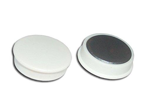 50 x Magnete, Weiß ɸ 24mm, Haftmagnete für Whiteboard, Kühlschrankmagnet, Magnettafel, Magnetwand, Magnet Rund