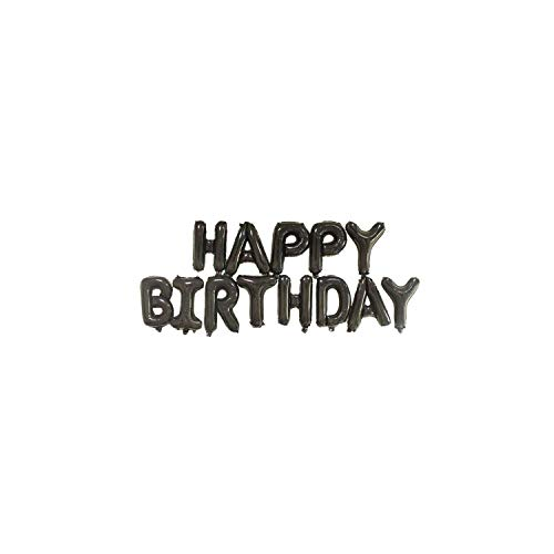 16 inch Letters Happy Birthday Foil Balloons Happy Birthday Party Decoration Kids Alphabet Air Balloons Shower Supplies,Black