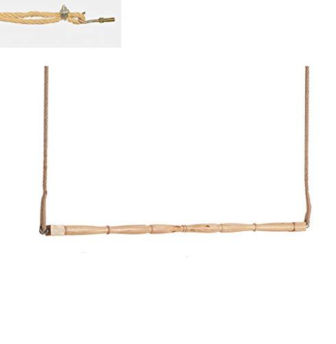 QiangDa Wandgarderoben Wandhaken Hakenleiste Abgehängte Decke Aufhänger Holzstab Hanfseil Punsch Installieren Nordischer Stil, 2 Größe (größe : 100cm)