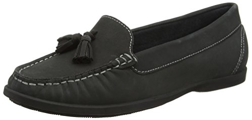Hush Puppies Damen Aalia Grace Müßiggänger, Schwarz (Black), 39 EU (Puppies-damen Schuhe Hush)