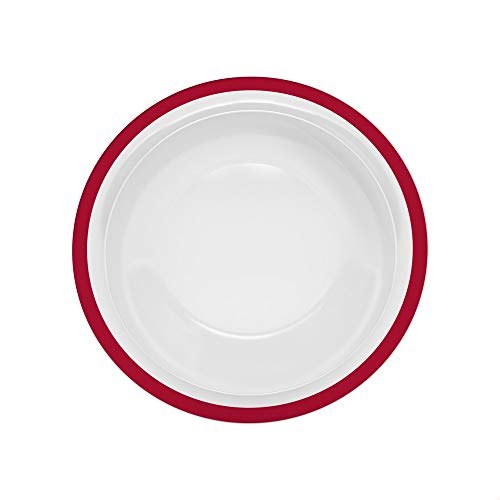 Ornamin Assiette Creuse Ø 22 cm Bord Rouge Mélamine (Modèle 505) / assiette à dîner, assiette à soupe, assiette à pâtes