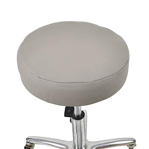 Unbekannt Wasserdichtes Leder Barhocker Abdeckung Anti-Rutsch-Runde Sitzbezug 12 Zoll Schwarz-1 Stück (Nicht Stuhl),Grey,16 * 4In - Leder Stuhl-abdeckung