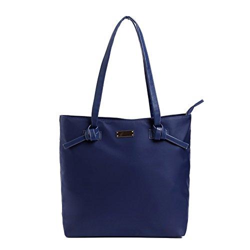 BEKILOLE Reisetasche für Damen Nylon-Tragetasche für 15,6-Zoll-Laptop und Tablet | Weekender Nylon Umhängetasche | Wasserbeständig | Dauerhaftes Material-Blau