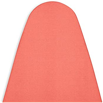 Encasa Homes Ironing Board Cover with 4mm Extra Thick Felt Pad for Steam Press - Coral - (Fits Standard Medium Boards of 112 x 33 cm) Heat Reflective, Protective, Scorch Resistant