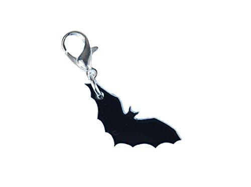 Fledermaus Charm Anhänger Bettelarmband Miniblings Vampir Halloween Acrylglas - Charms Glas Halloween