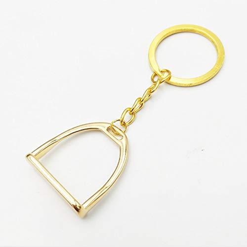 VAWAA Einfache Elegante Westlichen Stirrup Keychain Schlüsselanhänger Aufhänger Werkzeug Für Männer Frauen Tasche Dekoration Reiten Pferde Pferd Thema