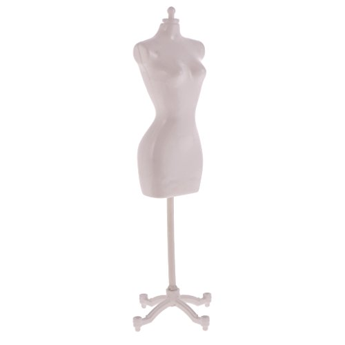 MagiDeal Supporto Del Banco Di Vestire Abiti Mannequin Modello per Barbie, Bambole Accessorio - Bianco