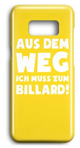 shirt-o-magic Handyhülle Snooker: Muss zum Billard! - Case -Samsung S7-Gelb