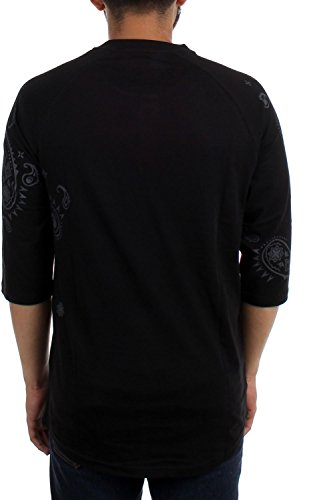 Famous Stars and Straps - Herren Pazed 4.3 Sleeve Henley Raglan-T-Shirt Black