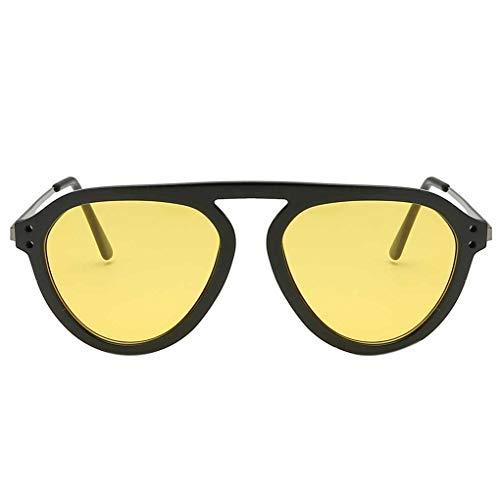 BoburyL Frauen Männer Eye Big Kunststoff-Rahmen-Reisen Brille Brillen Unisex Sonnenbrille optische Brillen