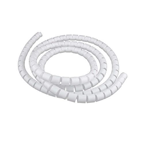 Sharplace 2m Kabelspirale Spiralband Kabelschlauch Kabelschutz - Weiß-20mm