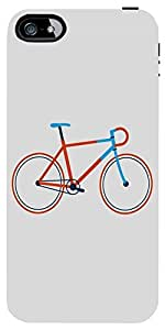 Snoogg Minimal Cycle Ride Case Cover For Apple Iphone 4/4S