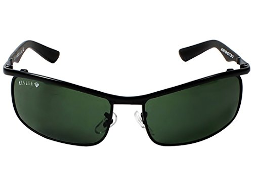 AISLIN® Non-Breakable Rectangular Sunglasses For Men (G-15 Green Lens)(AS-3459DH-2-BLK)