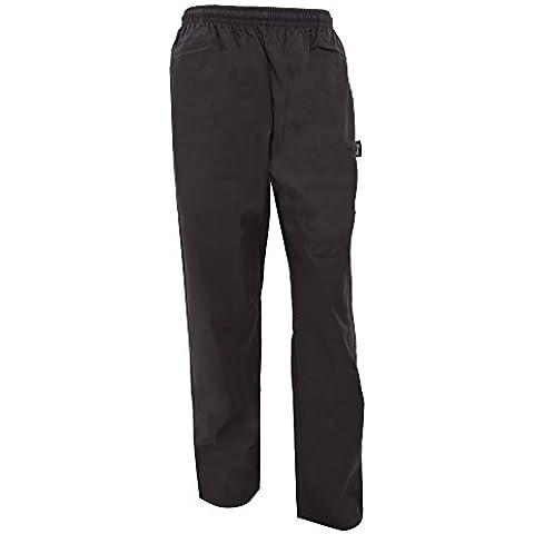 Dennys - Pantaloni Elasticizzati Tinta Unita da Chef - Uomo