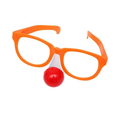 Amosfun 4 stücke Blinkt Lustige Runde Joker Clown Gläser Karneval Kostüme Karneval Requisiten für Erwachsene Festliche Halloween Dress up Party Supplies Dekoration (Gelegentliche Orange oder Blau)