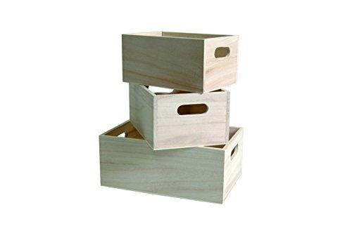 Artemio - Juego de 3 cajas para almacenamiento, color beige