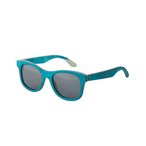 Sportbrillen, Angeln Golfbrille,New Fashion Retro Wood Women Sunglasses Men High Grade Brand Design Peacock Blue Polarisiert Sunglasses Beach Bamboo Eyeglasses Black