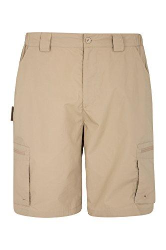 Mountain Warehouse Trek Mens Shorts – Lightweight Summer Shorts, Durable Cargo Short Trousers, Comfortable Bottoms, 7 Pockets - for Trekking, Hiking, Running & Camping