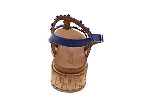 INUOVO 7243 Sandale Femme Coconut/Blu