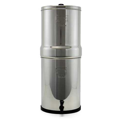 Complete corona Berkey filtro de agua con 2negro filtros y 2fluoruro PF2, purificador sistema